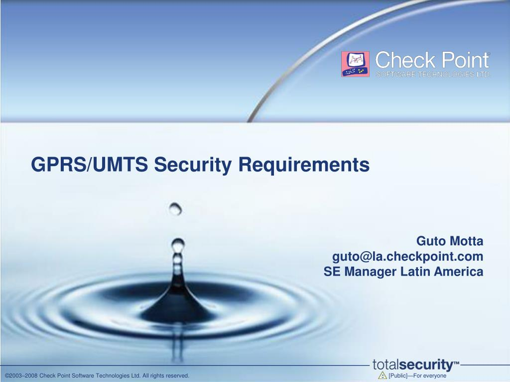 gprs umts security requirements l.
