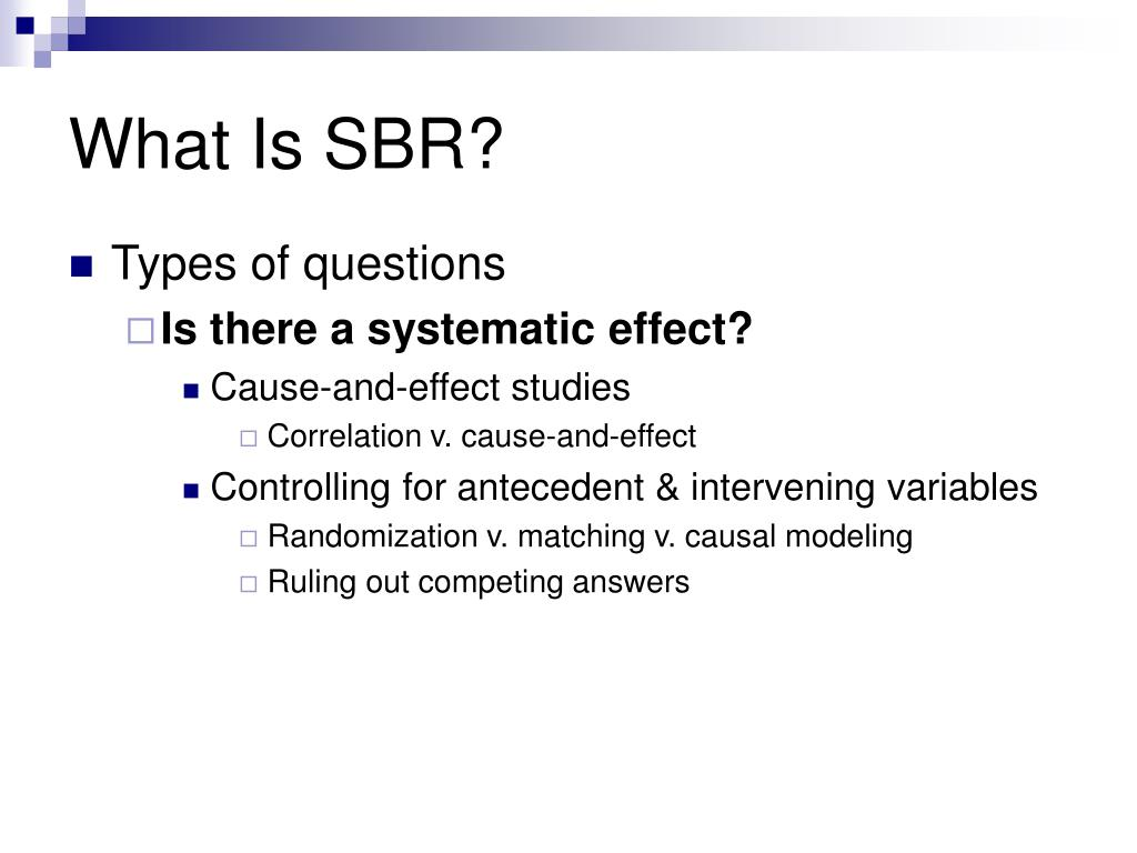 What Is SBR?
