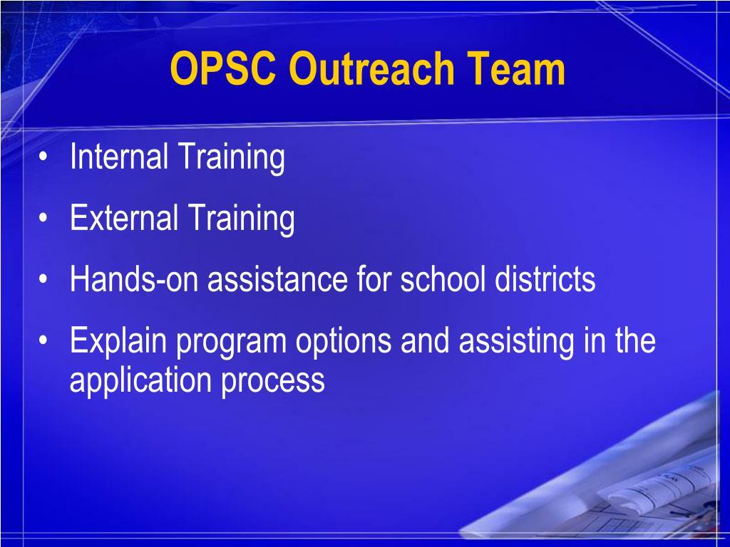 OPSC Outreach Team