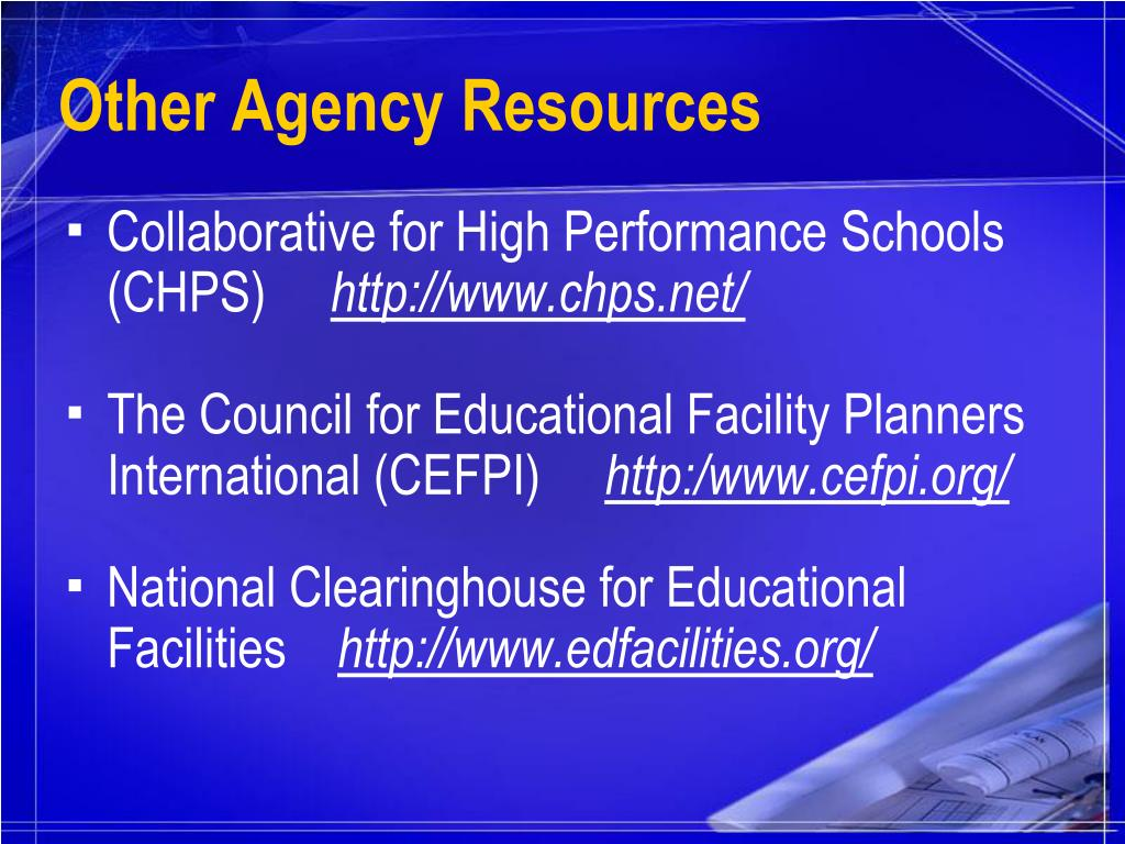 Other Agency Resources