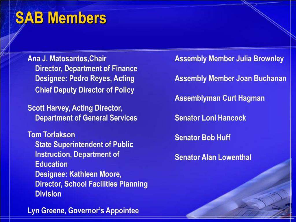 SAB Members