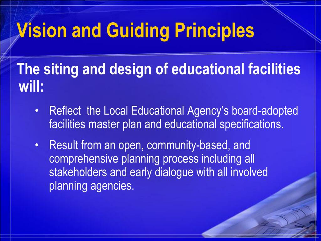 Vision and Guiding Principles