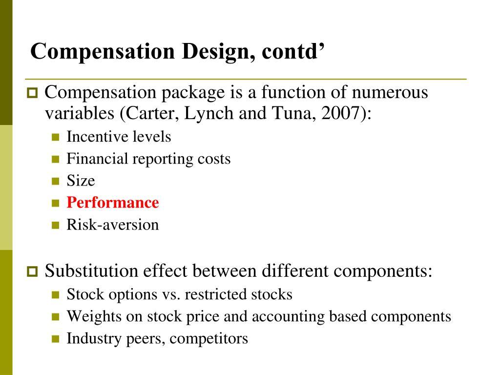 Compensation Design, contd'
