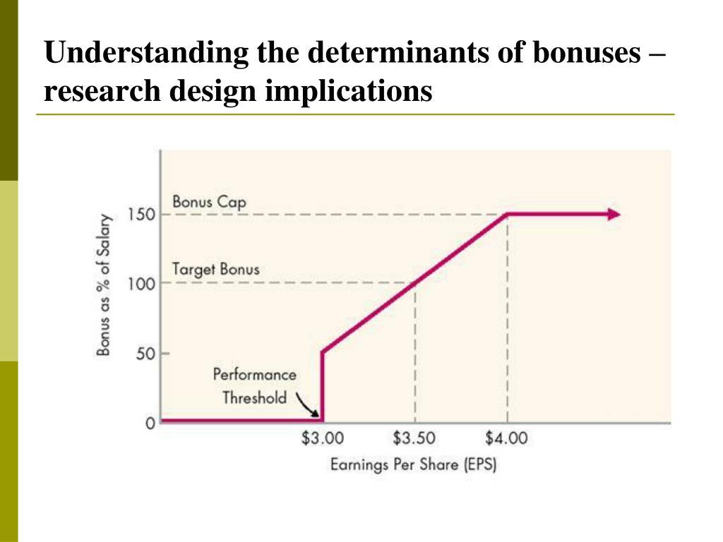 Understanding the determinants of bonuses – research design implications