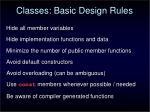 classes basic design rules
