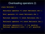 overloading operators i