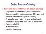 data source catalog