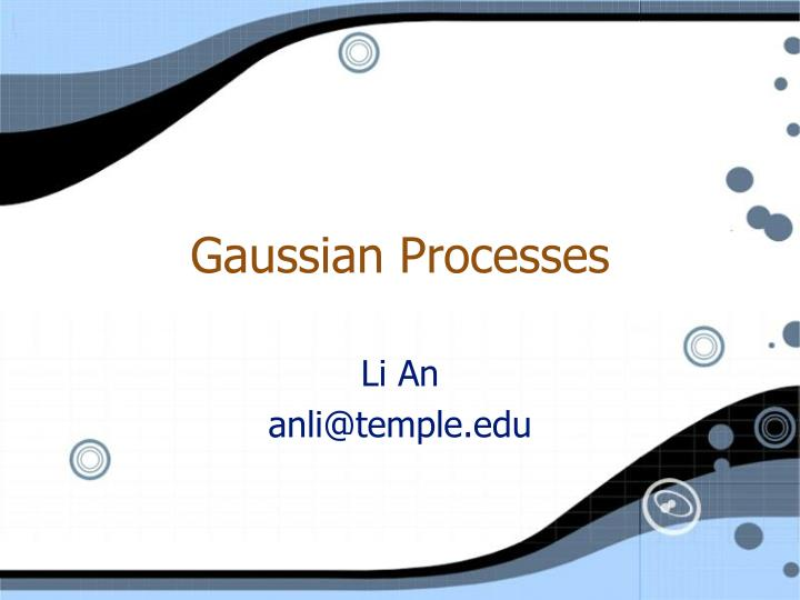 Gaussian processes