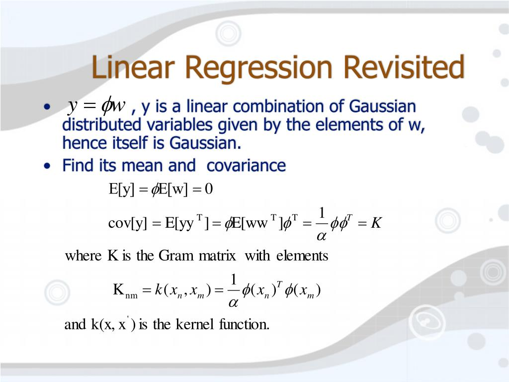 Linear Regression Revisited