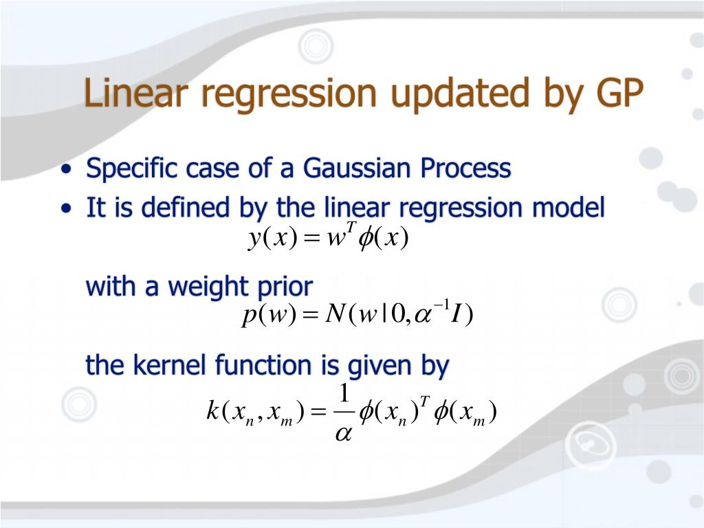 Linear regression updated by GP