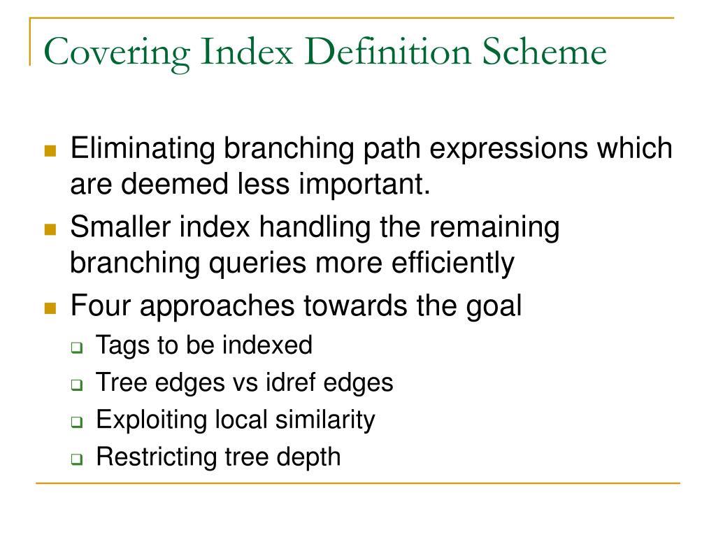 Covering Index Definition Scheme