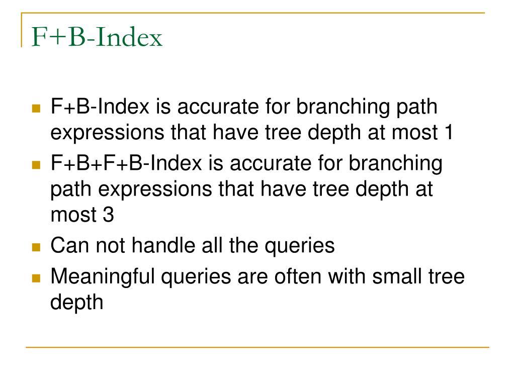 F+B-Index