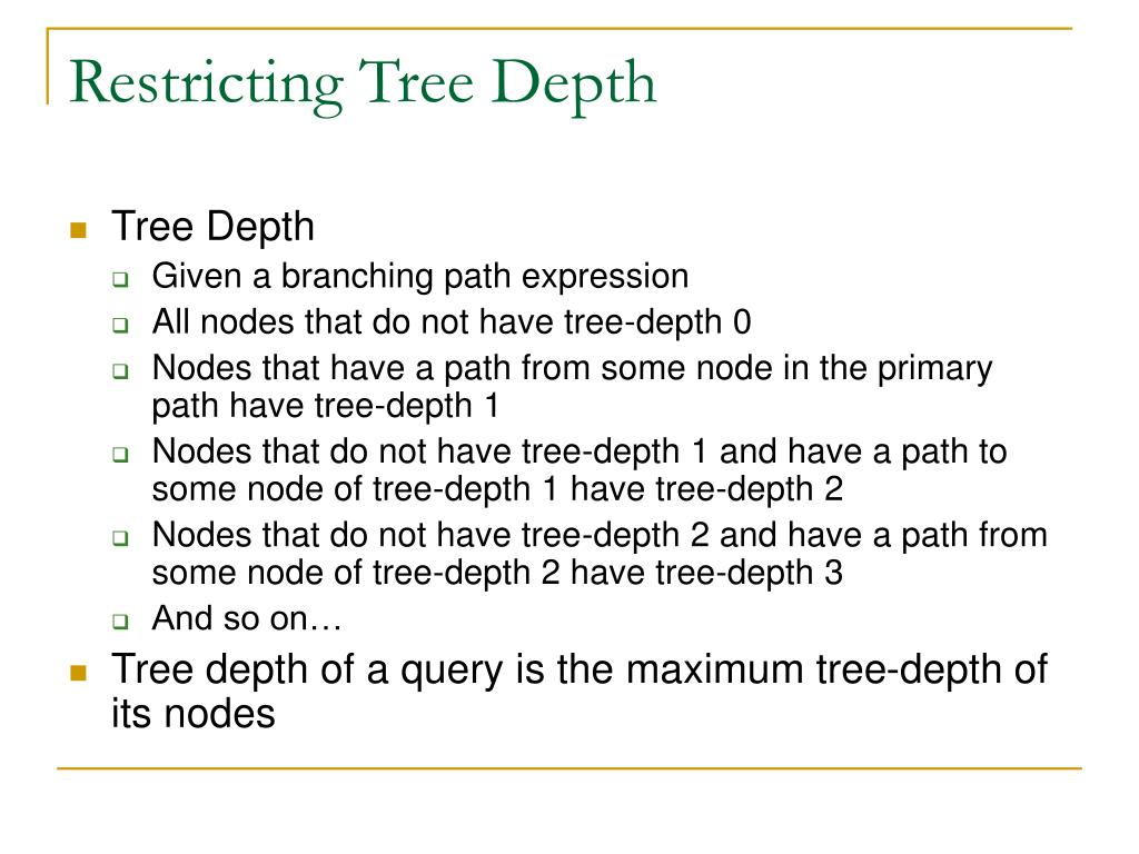 Restricting Tree Depth