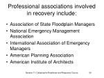 professional associations involved in recovery include