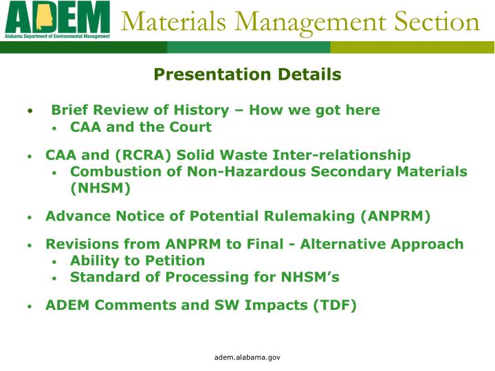 Materials management section2