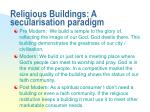 religious buildings a secularisation paradigm