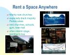rent a space anywhere