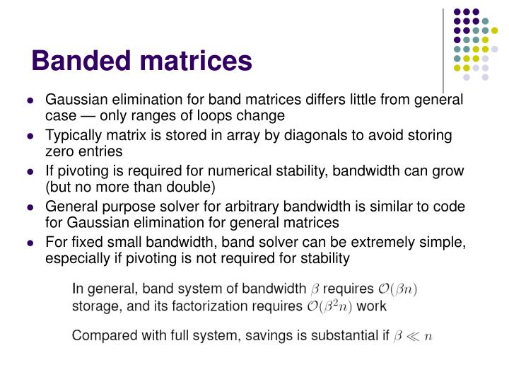 Banded matrices