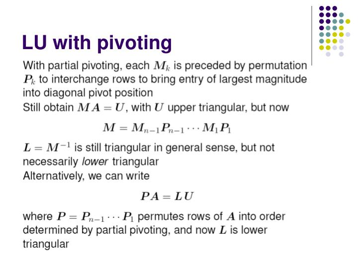 LU with pivoting