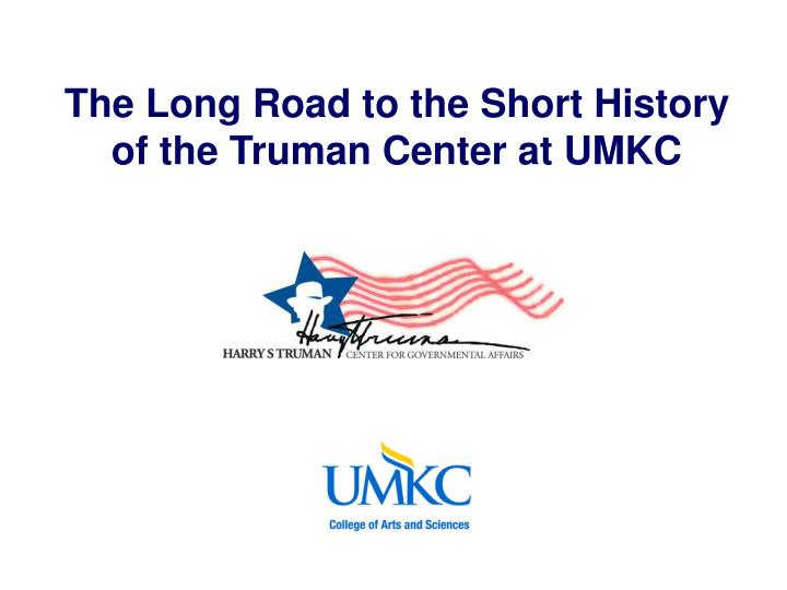 The Long Road to the Short History