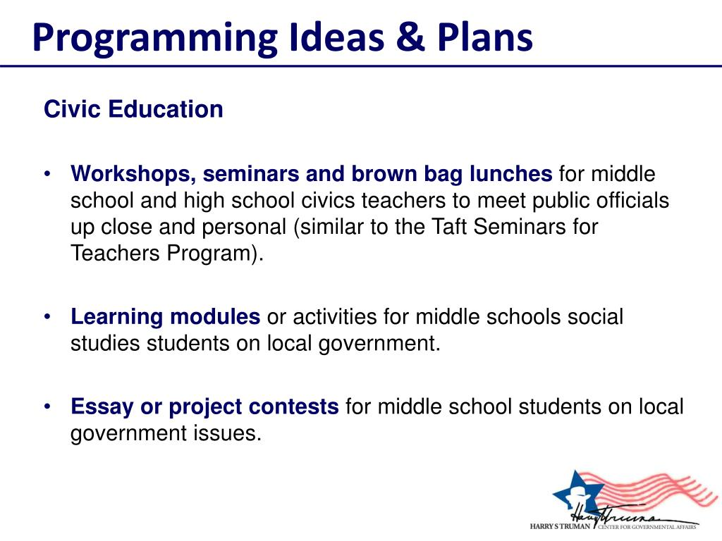 Programming Ideas & Plans