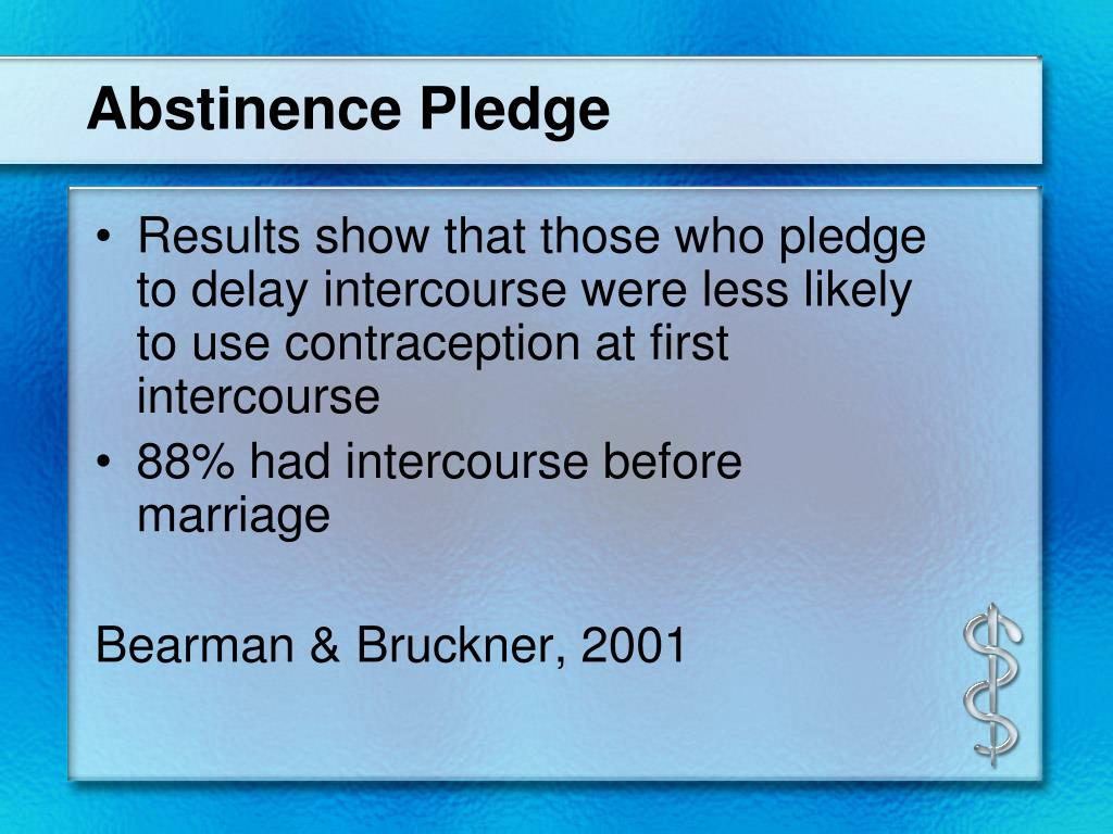abstinence only until marriage Abstinence-only-until-marriage policies and programs: an updated position paper of the society for adolescent health and medicine.