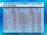 chlamydia gonorrhea cases rates by count 2005