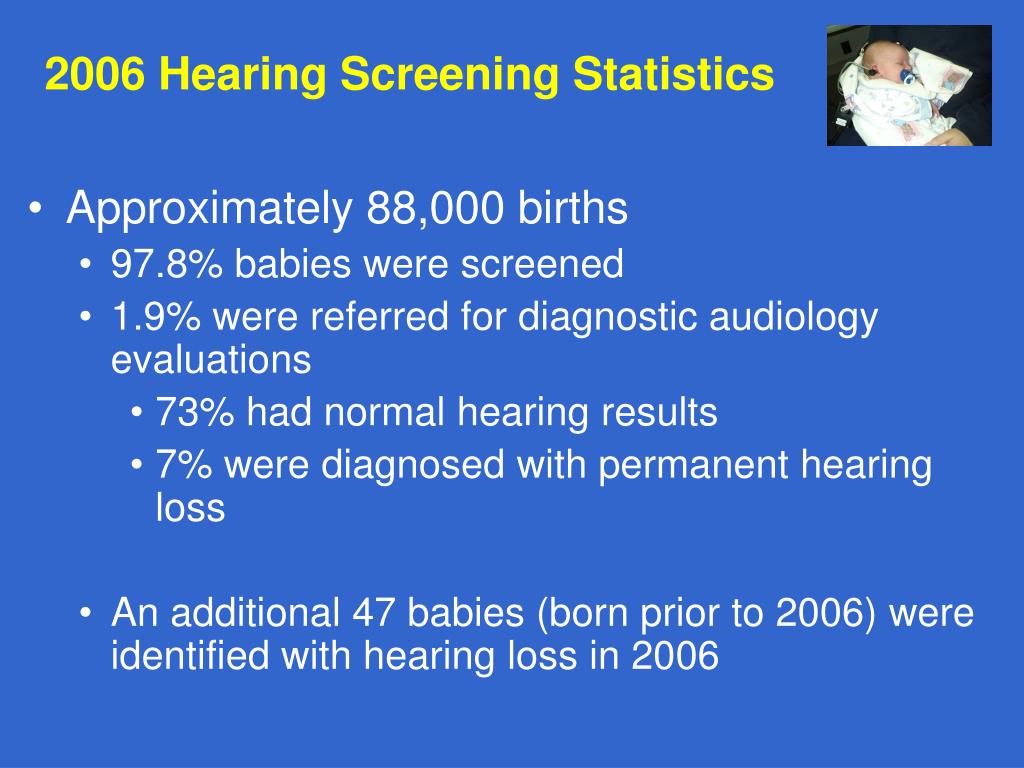 2006 Hearing Screening Statistics