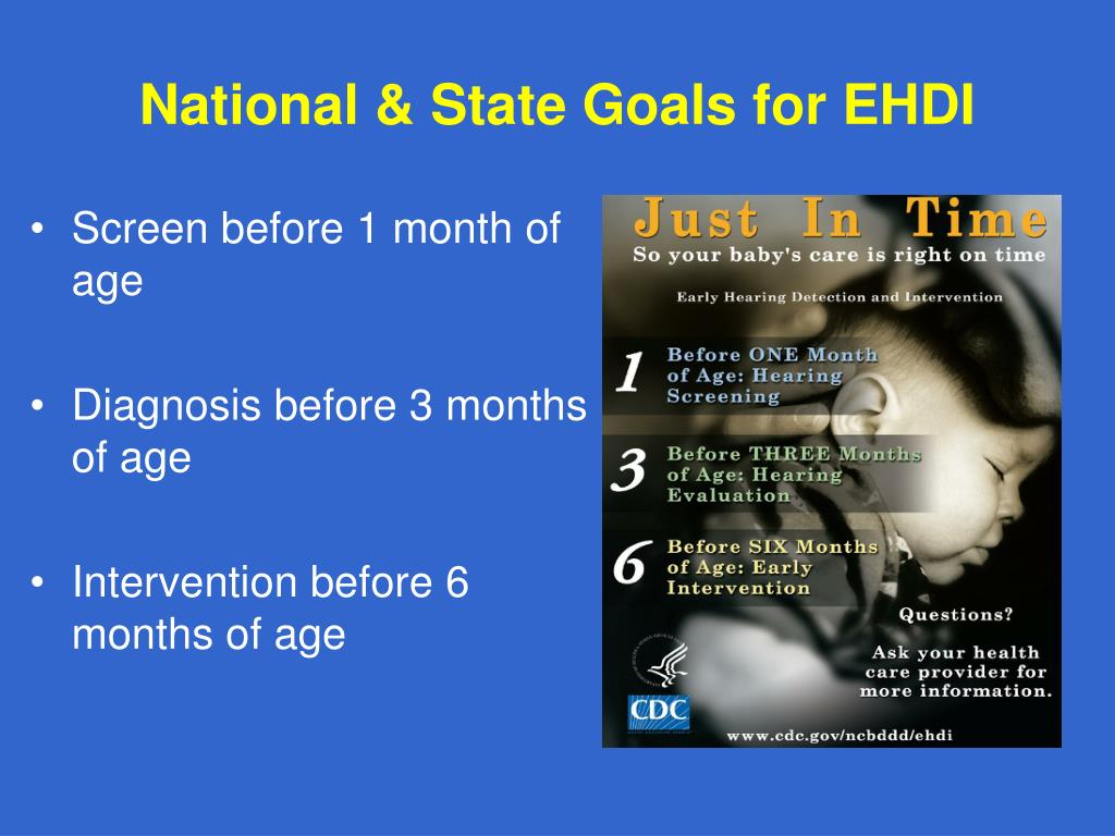 National & State Goals for EHDI