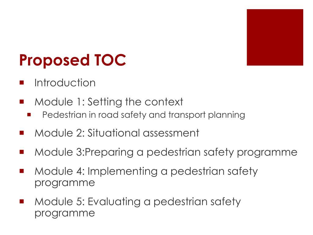 Proposed TOC