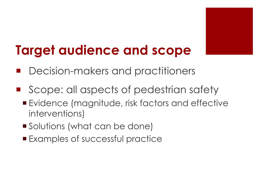 Target audience and scope