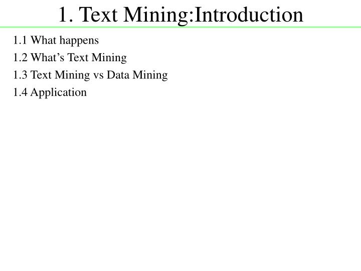 1 text mining introduction