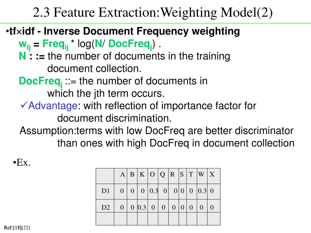 2.3 Feature Extraction:Weighting Model(2)