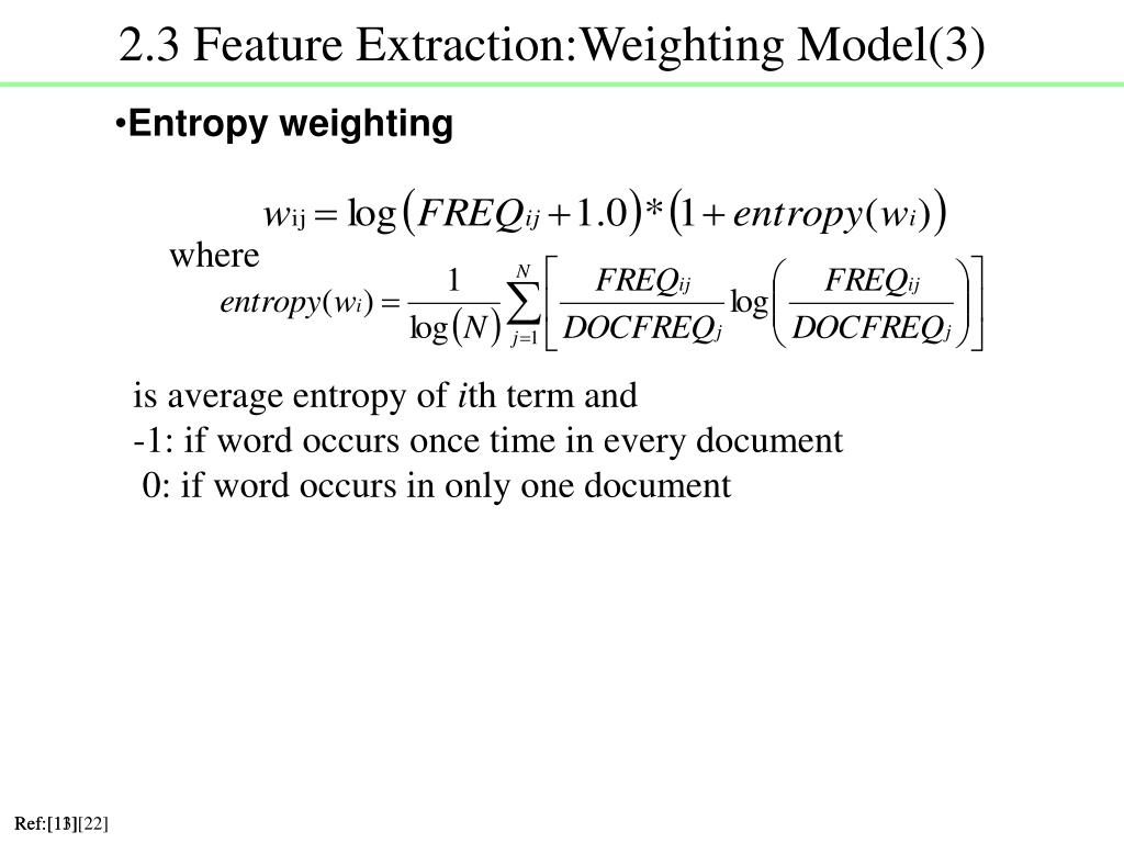 2.3 Feature Extraction:Weighting Model(3)