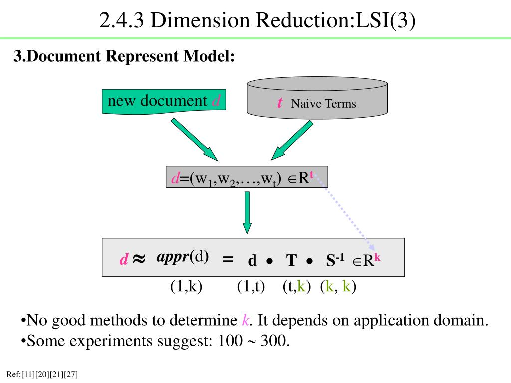 2.4.3 Dimension Reduction:LSI(3)