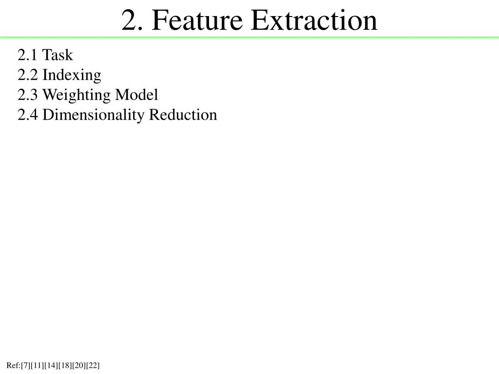 2. Feature Extraction