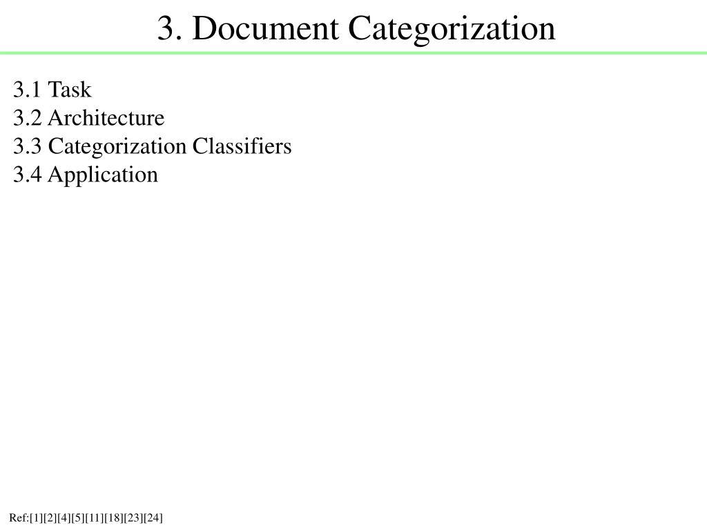 3. Document Categorization