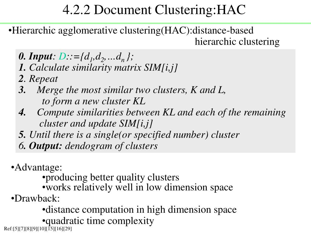 4.2.2 Document Clustering:HAC