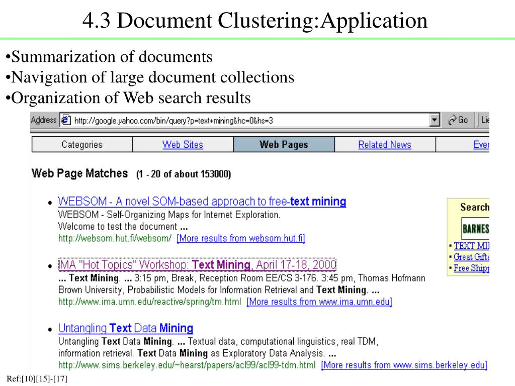 4.3 Document Clustering:Application