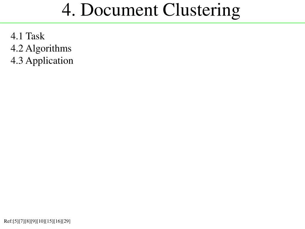 4. Document Clustering