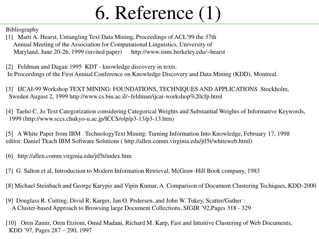 6. Reference (1)