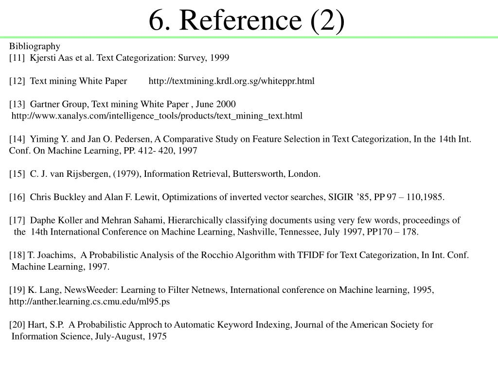6. Reference (2)