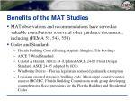 benefits of the mat studies
