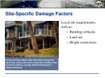 site specific damage factors7