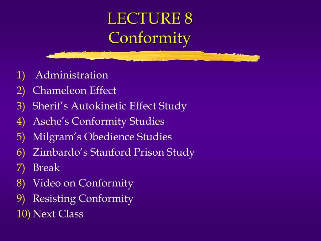 lecture 8 conformity l.