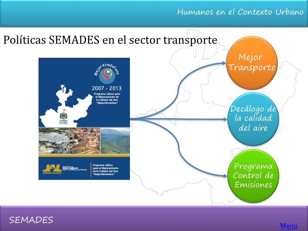 Políticas SEMADES en el sector transporte