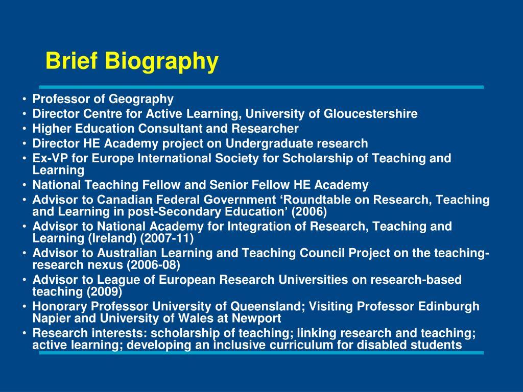 Professor of Geography