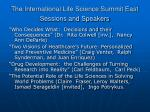 the international life science summit east sessions and speakers