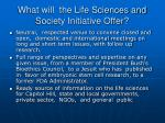 what will the life sciences and society initiative offer