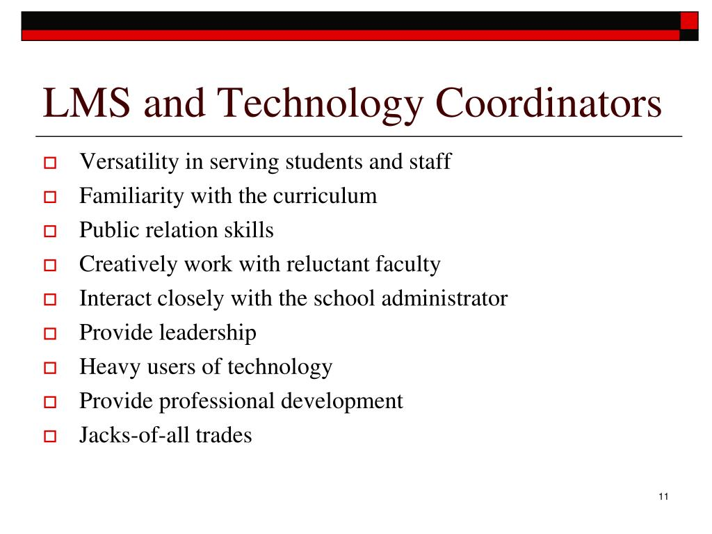 LMS and Technology Coordinators
